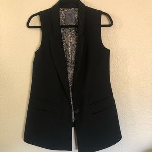 Guess black, long vest, size small